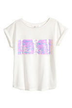 Top with sequins - White - Kids | H&M 2