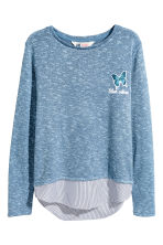 Fine-knit jumper - Blue marl -  | H&M 2