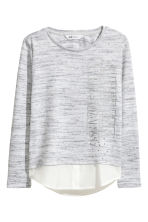 Fine-knit jumper - Grey marl -  | H&M 2