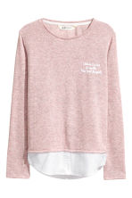 Fine-knit Sweater - Pink melange - Kids | H&M CA 2