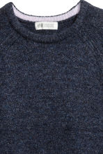 Knitted jumper - Dark blue marl - Kids | H&M CN 3