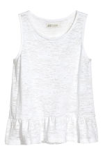 Burnout vest top - White -  | H&M CA 2