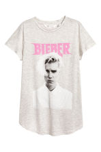 Printed jersey top - Grey/Justin Bieber - Kids | H&M 2