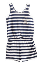 Sleeveless playsuit - Dark blue/Striped - Kids | H&M 2