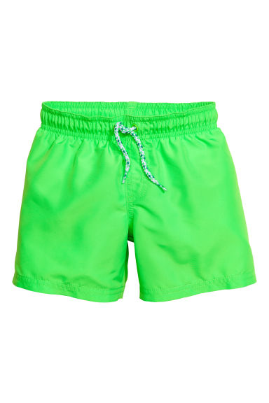 Short swim shorts - Neon green - Kids | H&M 1