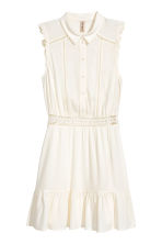 Lace-trim dress - White - Ladies | H&M 2