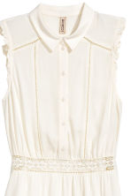 Lace-trim dress - White - Ladies | H&M 3