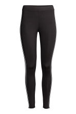 Jersey leggings with stripes - Black - Ladies | H&M 2