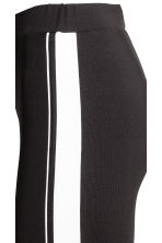 Jersey leggings with stripes - Black - Ladies | H&M 4