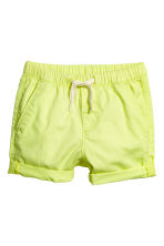 Cotton shorts - Lime yellow - Kids | H&M 1