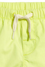 Cotton shorts - Lime yellow - Kids | H&M 2