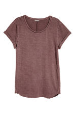 Slub jersey T-shirt - Red-brown - Men | H&M CN 2
