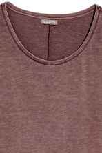 Slub jersey T-shirt - Red-brown - Men | H&M CN 3
