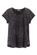 Slub jersey T-shirt - Dark grey - Men | H&M CN 2