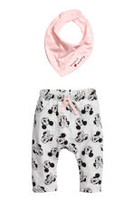 3-piece jersey set - Light pink/Minnie Mouse - Kids | H&M 2