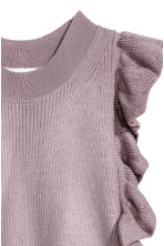 Fine-knit frilled top - Heather purple - Ladies | H&M CN 3