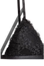 Non-wired lace triangle bra - Black - Ladies | H&M 3