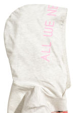 Cropped hooded top - Light beige marl - Kids | H&M 3