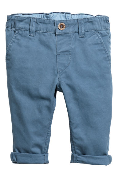 Cotton chinos - Grey-blue -  | H&M 1