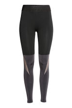 Collant training color block - Noir/gris foncé - FEMME | H&M FR 2