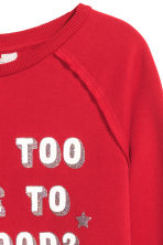 Sweatshirt with a motif - Red/Stars - Kids | H&M GB 3