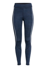 Winter running tights - Dark blue marl - Ladies | H&M IE 2