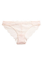 Lace bikini briefs - Light beige - Ladies | H&M IE 2