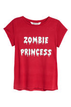 Printed jersey top - Red - Kids | H&M 2