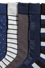 5-pack ribbed socks - Dark blue - Men | H&M 2