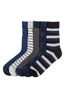 5-pack ribbed socks
