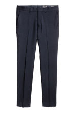 Wool suit trousers Slim fit - Dark blue - Men | H&M 2