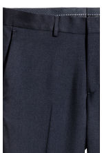 Wool suit trousers Slim fit - Dark blue - Men | H&M 4