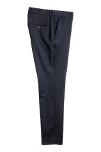 Wool suit trousers Slim fit - Dark blue - Men | H&M 3