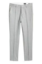 Wool suit trousers Slim fit - Light grey - Men | H&M 2