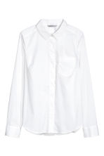 Fitted shirt - White - Ladies | H&M CA 2