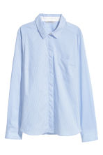 Fitted shirt - Light blue/Striped - Ladies | H&M IE 1