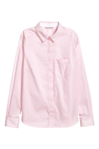 Fitted shirt - Pink - Ladies | H&M CN 1