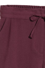 Crêpe shorts - Plum - Ladies | H&M 3