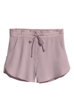 Crêpe shorts - Heather purple - Ladies | H&M 2