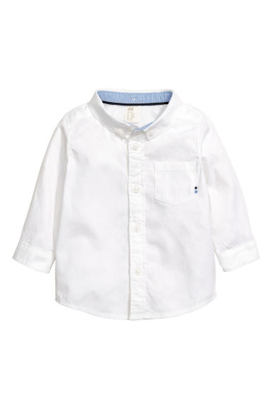 Cotton shirt - White - Kids | H&M