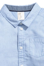 Cotton Shirt - Light blue/ poplin - Kids | H&M CA 2