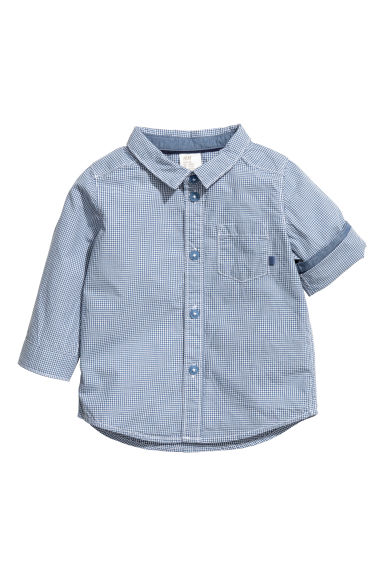 Cotton shirt - Blue - Kids | H&M CN 1