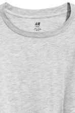 Printed yoga top - Light grey marl - Ladies | H&M 4
