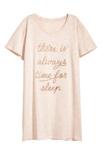 Nightdress with a print motif - Powder - Ladies | H&M 2