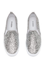 Slip-on Shoes - Silver-colored - Ladies | H&M CA 2