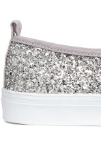 Slip-on Shoes - Silver-colored - Ladies | H&M CA 3