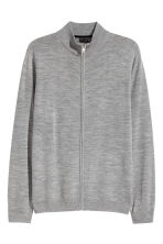 Zipped cardigan - Grey marl - Men | H&M CN 2