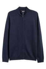 Zipped cardigan - Dark blue - Men | H&M 2
