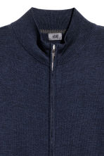 Zipped cardigan - Dark blue - Men | H&M 3