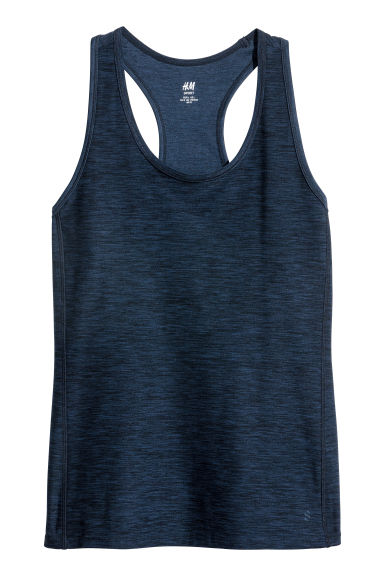H&M+ Sports vest top - Dark blue -  | H&M IE